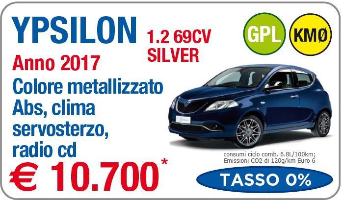 Lancia Ypsilon 1 2 69CV Silver GPL Km0 a Roma - Gruppo Rosati